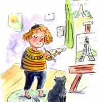 little girl artiste