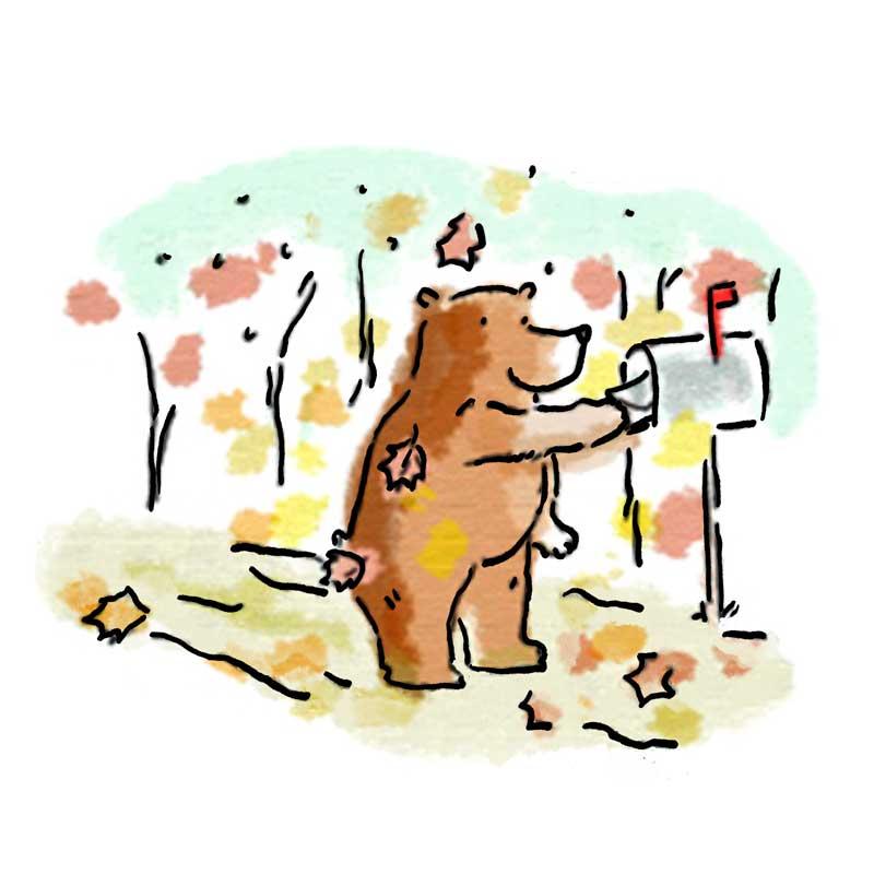 bear mails letter
